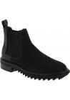 Lanvin Herren mode Stiefeletten aus schwarzem Leder mit Gummibändern