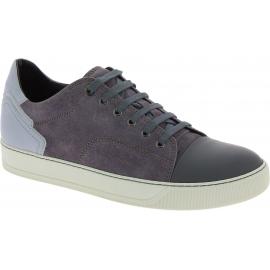 Lanvin Sneakers schuhe mit abgerundeten Zehen für Herren aus grauem Wildleder