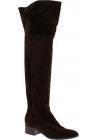 Sartore Overknee-Stiefel für Damen aus braunem Wildleder mit Reißverschluss