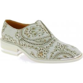 Barbara Bui Slip-On Mokassins Schuhe für Damen in weißer Ponyhaut