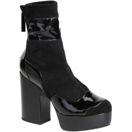 Pierre Hardy Midcalf High Heels Stiefel in schwarzem Wildleder