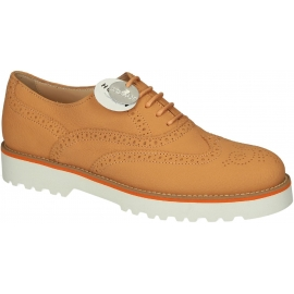 Hogan Damen orange Brogue Halbschuhe Lederschuhe
