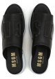 MSGM Damen Pantoffel-Sandalen aus schwarzem Leder