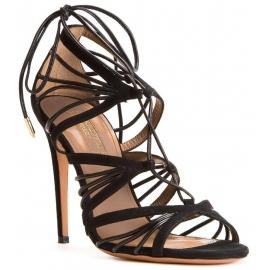 Aquazzura Sandaletten aus schwarzem Wildleder