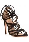 Aquazzura High Heel Sandalen aus schwarzem Wildleder