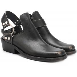 Balenciaga Ankle Boots aus schwarzem Effektleder
