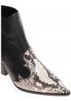 Casadei Cowboy-Stiefelette für Damen aus schwarzem Leder mit Ayers-Einsätzen