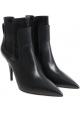 Casadei Knöchelhohe Stiefeletten aus schwarzem Leder mit Stöckelabsatz