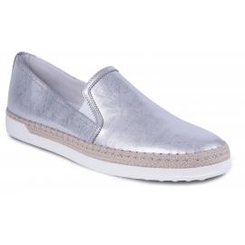 Tod's Mokassins Schuhe für Damen mode aus silbernem Metallic-Leder