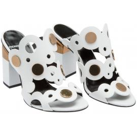Pierre Hardy High Heel Sandalen aus weißem Leder