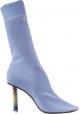 Vetements Hellblaue Baumwoll sockenstiefel für Damen mit hohe absätze feuerzeug