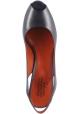 Santoni Offene Slingback Sandalen für Damen mit hohem Absatz aus marine blauem Leder