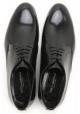 Dolce & Gabbana Herren-Schnürer aus schwarzem glänzendem Kalbsleder