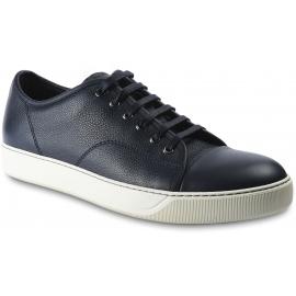 Lanvin Herren Sneaker Schuhe mit abgerundeter Zehenpartie aus schwarzem Kalbsleder
