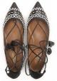 Aquazzura Riemchen Ballerina aus schwarzem weichem Leder