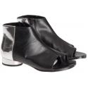 Maison Margiela Damen Stiefeletten aus schwarzem Leder