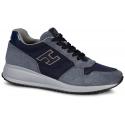 Hogan Interactive Herren Sneaker aus hellblauem Wildleder