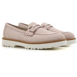 Hogan Damen Halbschuhe Schuhe in rosa Wildleder