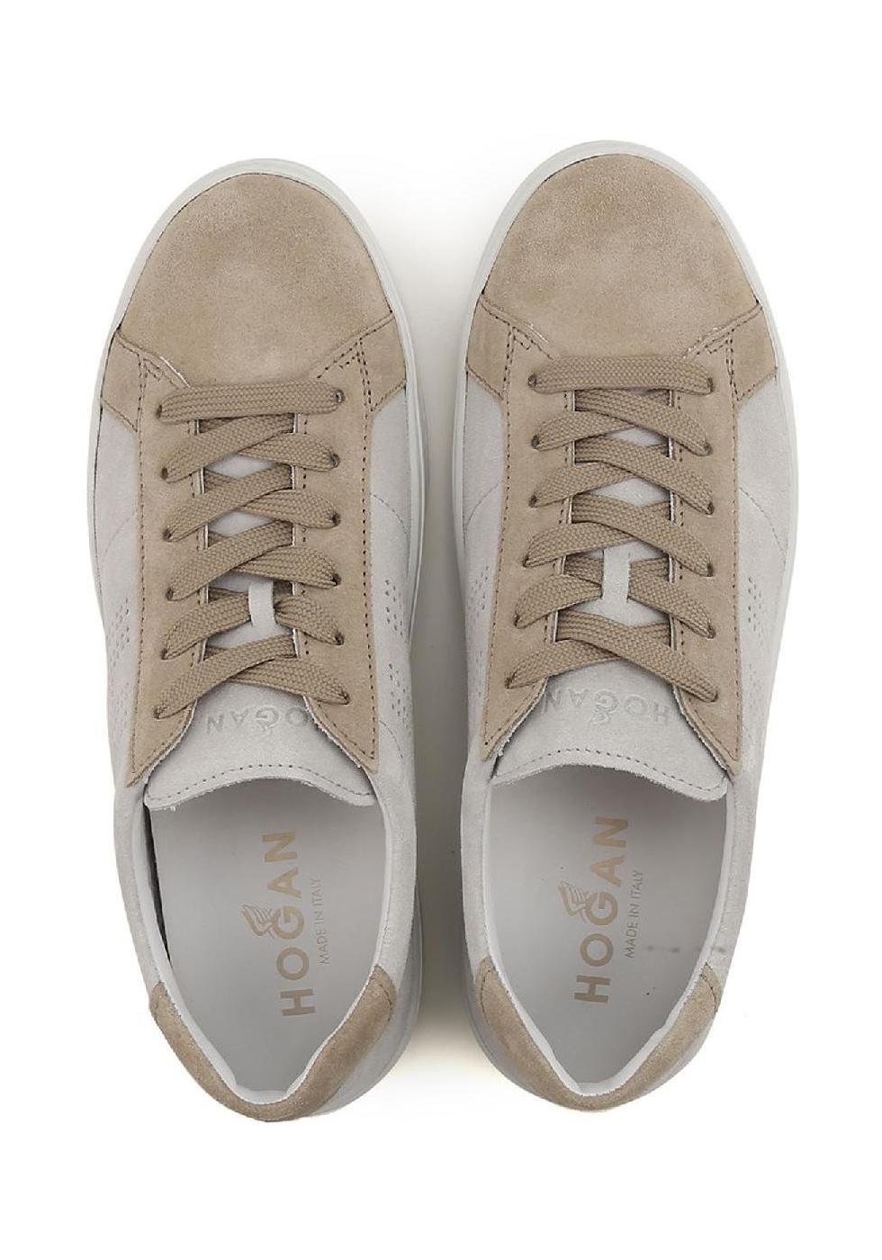 Hogan H302 Herren Sneaker Schuhe in beige Wildleder - Italian Boutique 6dfbc390e15