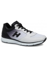 Hogan Sneakers aus weißem Leder mit schwarzer Abstufung
