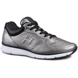 Hogan Herren Sneakers aus silber laminiertem Rindsleder