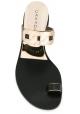 Casadei Hausschuhe Schleife Zehe in schwarzem Leder