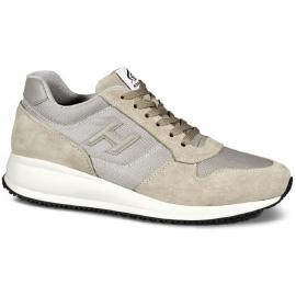 Hogan Interactive N20 Herren Sneakers Schuhe in beige wildleder und Stoff