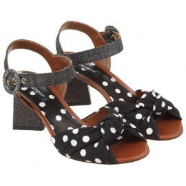 Dolce & Gabbana Sandaletten aus schwarzem Leder