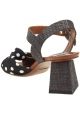 Dolce & Gabbana - Absatzsandalen aus schwarzem Leder