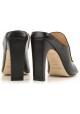 Sergio Rossi High Heels Maultiere aus schwarzem Leder