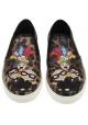 Dolce & Gabbana Frauen-T-Shirt von Slip-on-Turnschuhen