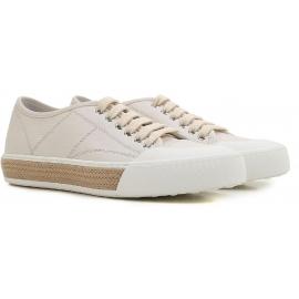 Tod's Frauen niedrige Sneakers aus weißem Leder