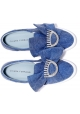 Chiara Ferragni Slipper aus blauem Canvas