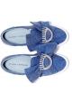 Slip-Ons von Chiara Ferragni in blauem Canvas