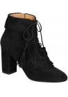 Aquazzura High Heels Booties aus schwarzem Wildleder
