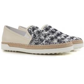 Tod's Damen Slip-Ons Sneaker Blu Paiette und Leder