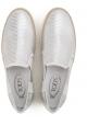 Tod's Damen Slip-Ons Sneakers aus silber laminiertem Leder