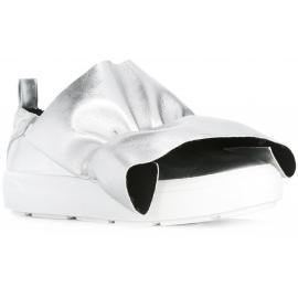 MSGM Damen Slip-Ons Sneaker aus silbernem Leder