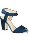 Giuseppe Zanotti High Heel Sandalen aus blauem Tech-Gewebe