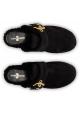 Auto Schuh Damen Pantoletten in Schwarzes Schaf-Leder