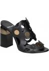Pierre Hardy Sandaletten aus schwarzem Kalbsleder