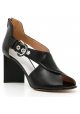 Maison Margiela High Heel Sandalen aus schwarzem Leder