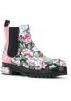Alexander McQueen Stiefeletten aus Leder mit floralem Muster