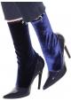 Balenciaga Midcalf Booties aus blauem Lackleder