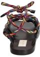 Flache Sandalen von Valentino für Damen aus anthrazitfarbenem Leder