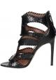 Alaïa High Heels Sandalen aus schwarzem Python-Leder