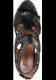 Alaïa High Heels Sandalen aus schwarzem Pythonleder