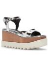 Stella McCartney Vegan Silver Wedges Sandalen Schuhe