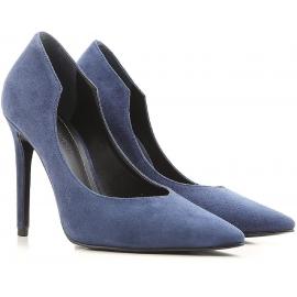 Kendall + Kylie Heels Pumps aus blauem Veloursleder