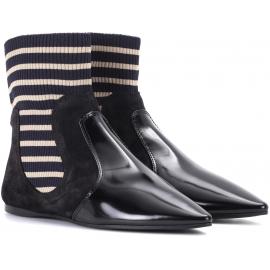 Low Boots Acne Studios in Stoff und schwarzer Farbe